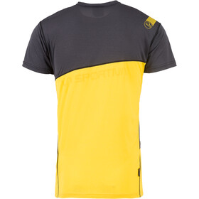 La Sportiva Limitless Camiseta Hombre, negro/amarillo